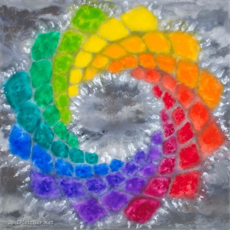 Dazzling mandala painting