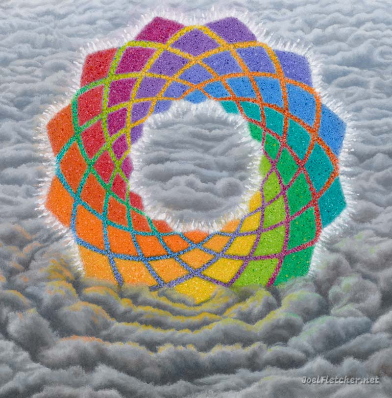 Mandala image from the painting Mysterium by Joel Fletcher.